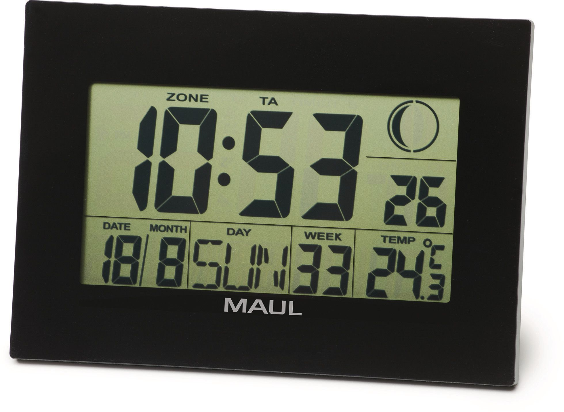 Horloge De Bureau Originale maul horloge murale maulflow 9082890 noir, digital - ecomedia ag