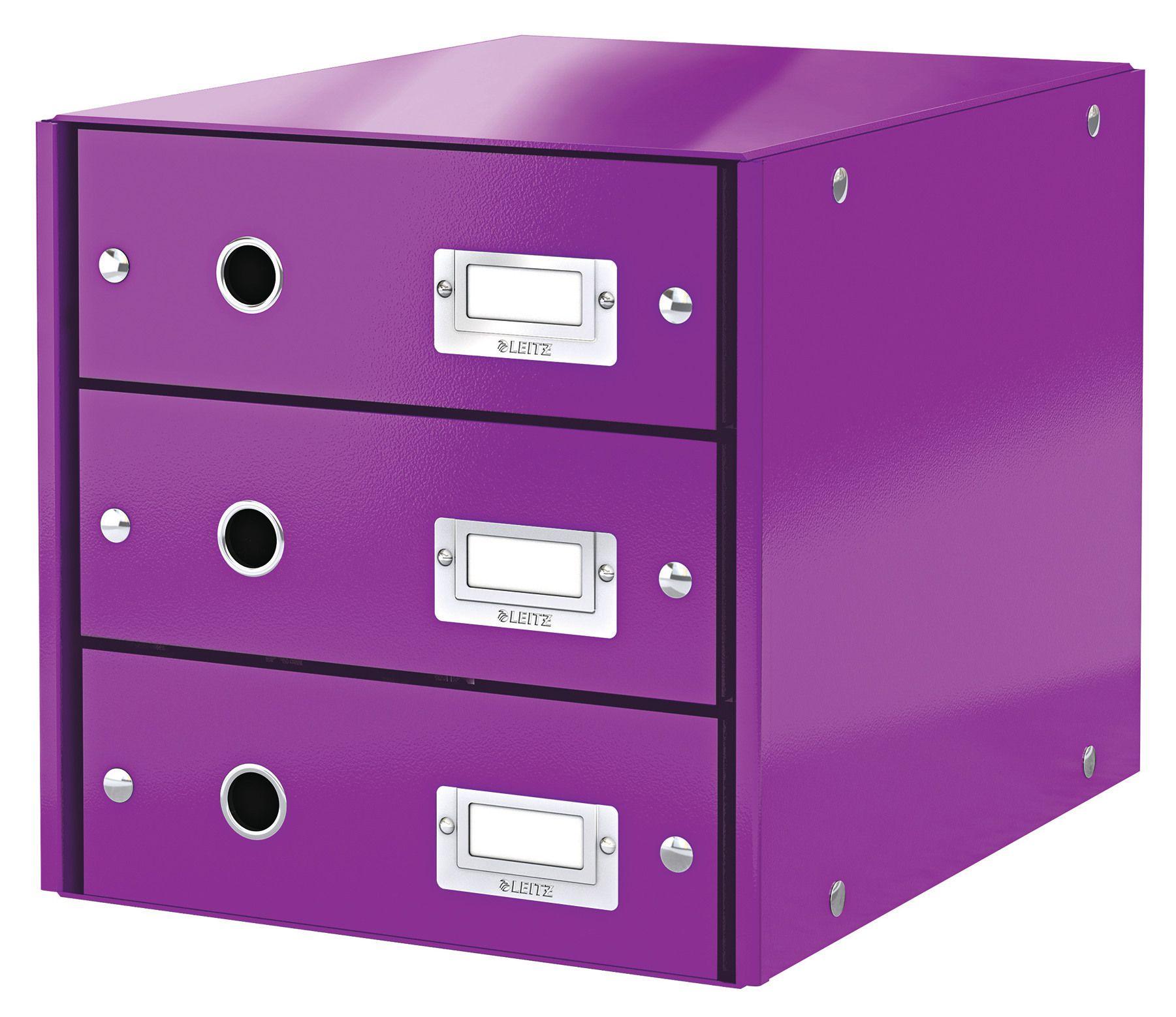 3 cassetti Leitz 60480001 Click/&Store Cassettiere Colore Bianco