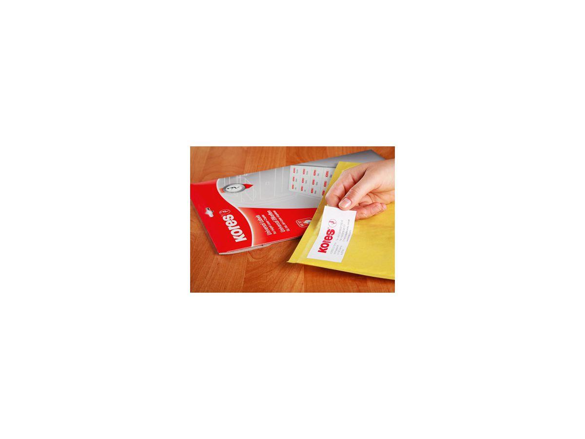 6 x 33 100 Blatt weiß 4045257700057 8 mm Kores Universal-Etiketten 64